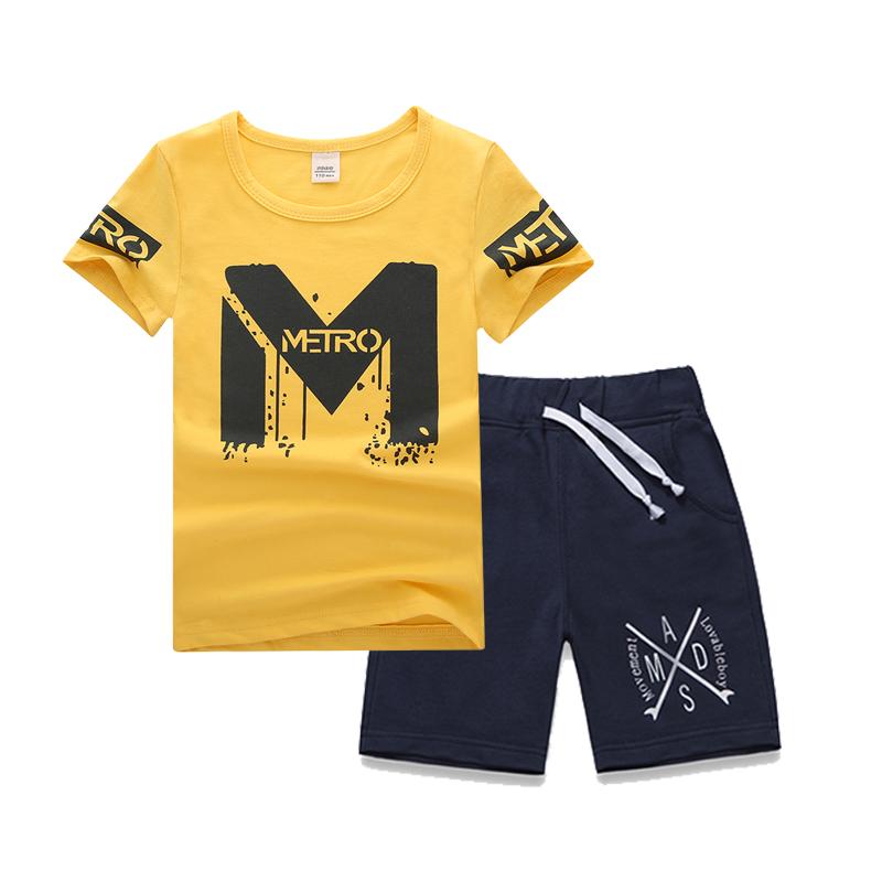 5中大童装6男童夏装2019新款8短袖t恤9儿童两件套装10男孩11潮12