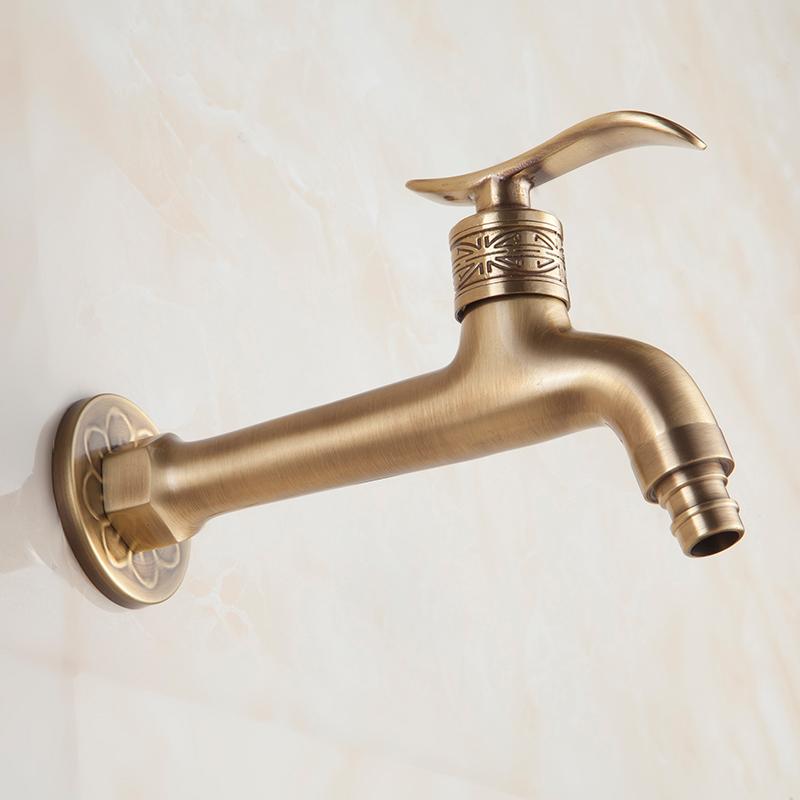 全铜仿古洗衣机水龙头拖把池龙头欧式复古单冷4分水龙头室外家用
