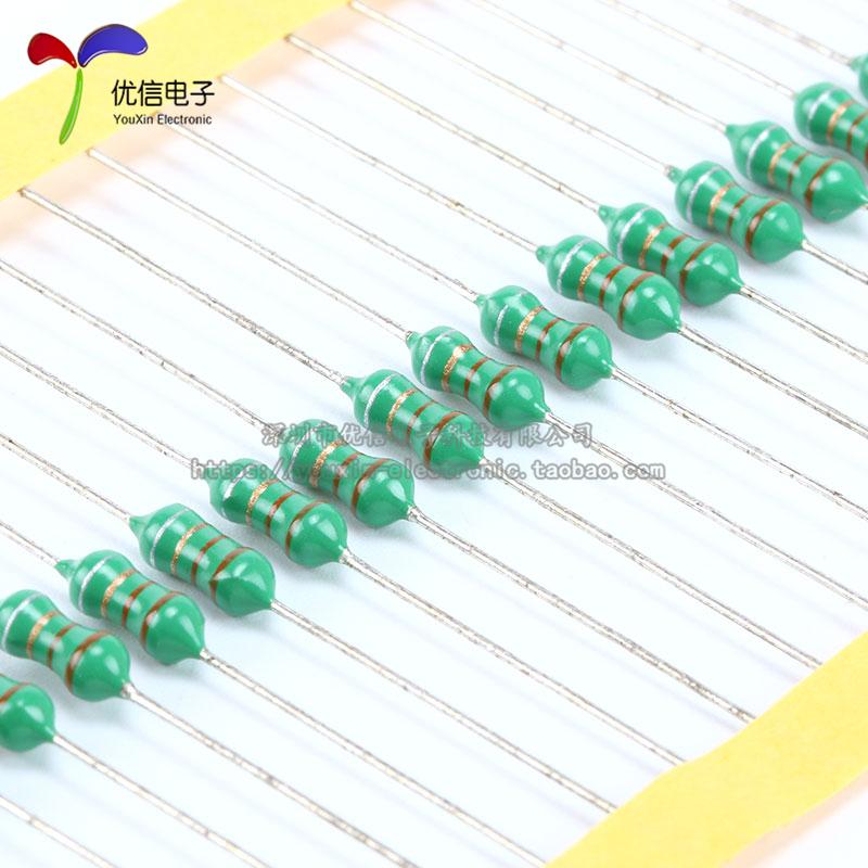 0410色环电感 10UH 1/2W 直插电感 (50只/3元)