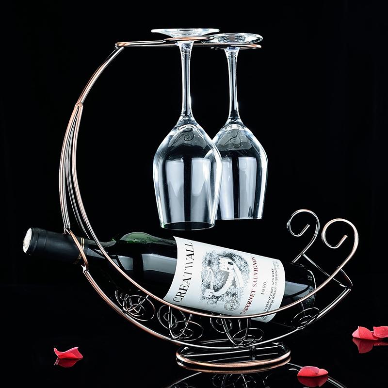 優騰 歐式紅酒架 酒瓶架 酒架葡萄酒杯架子紅酒杯架 擺件