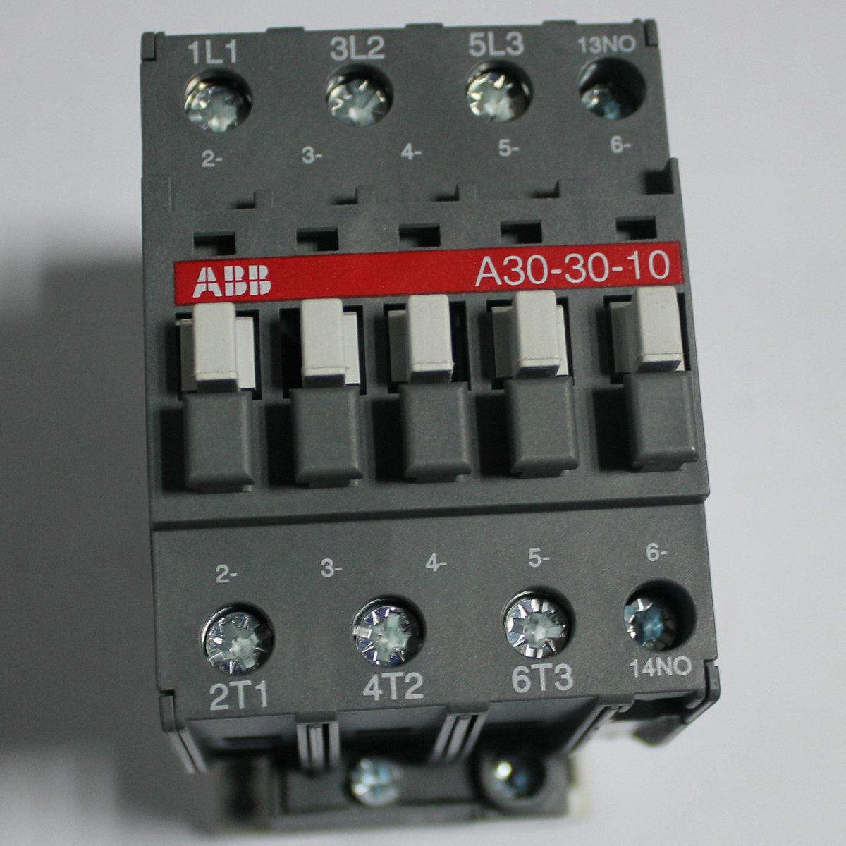 ABB三极交流接触器 A30-30-10 AC220V正品质保一年!