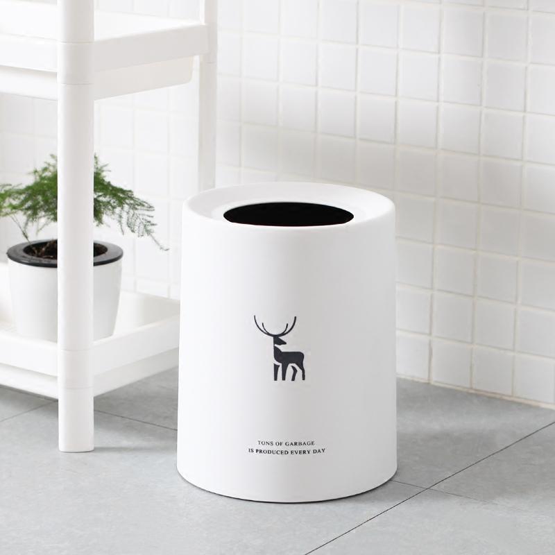 歐式垃圾桶家用大號簡約時尚北歐創意客廳卧室廚房衛生間小紙簍筒