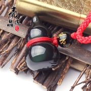 Opening natural Rainbow Obsidian eyes gourd pendant men and women safe jewelry charm jewelry necklace