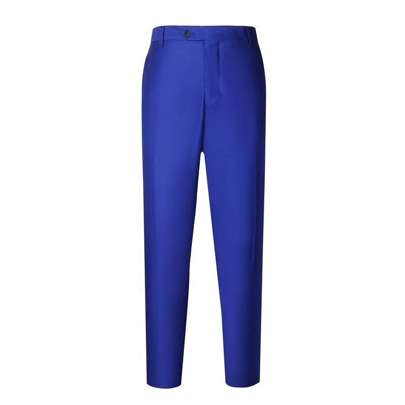 意大利进口 诺悠翩雅 诺诺皮安娜 纯羊毛130'S皇室蓝男士修身西裤
