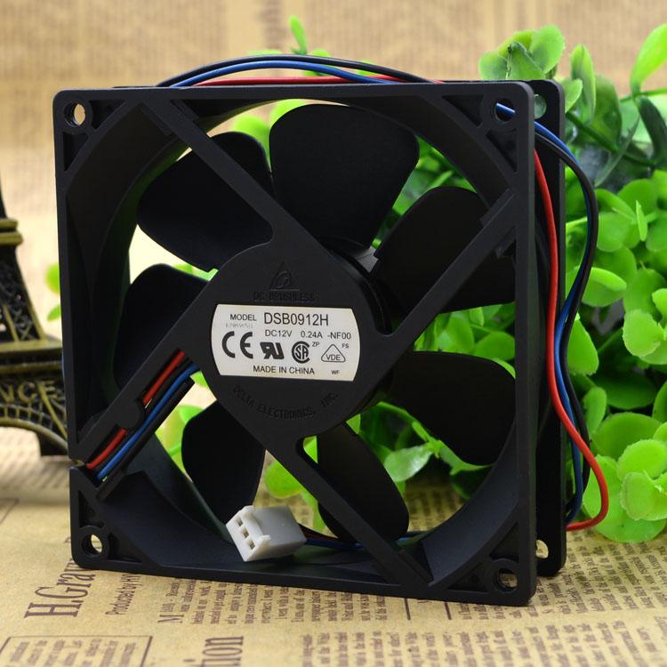 Вентилятор DSB0912H оригинальной Delta третьего эшелона корпуса 9 см 9225 12V 0.24A ультра бесшумный вентилятор