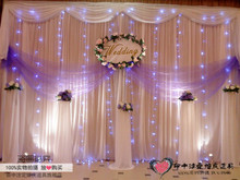 The latest version of gauze curtain in the background Wedding decor stage props wedding cloth background frame Special sequins