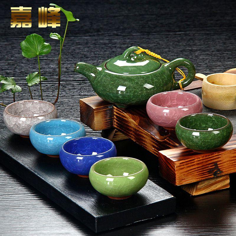 Taiwan трещины глазури ледяной чай льда набор чая керамический фиолетовый лед фиссур чашки подарок чай ограниченный пакет mail чайный набор