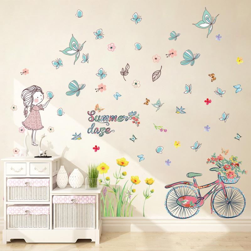 少女心房间墙贴客厅卧室床头背景墙壁纸温馨浪漫满屋装饰自粘贴画