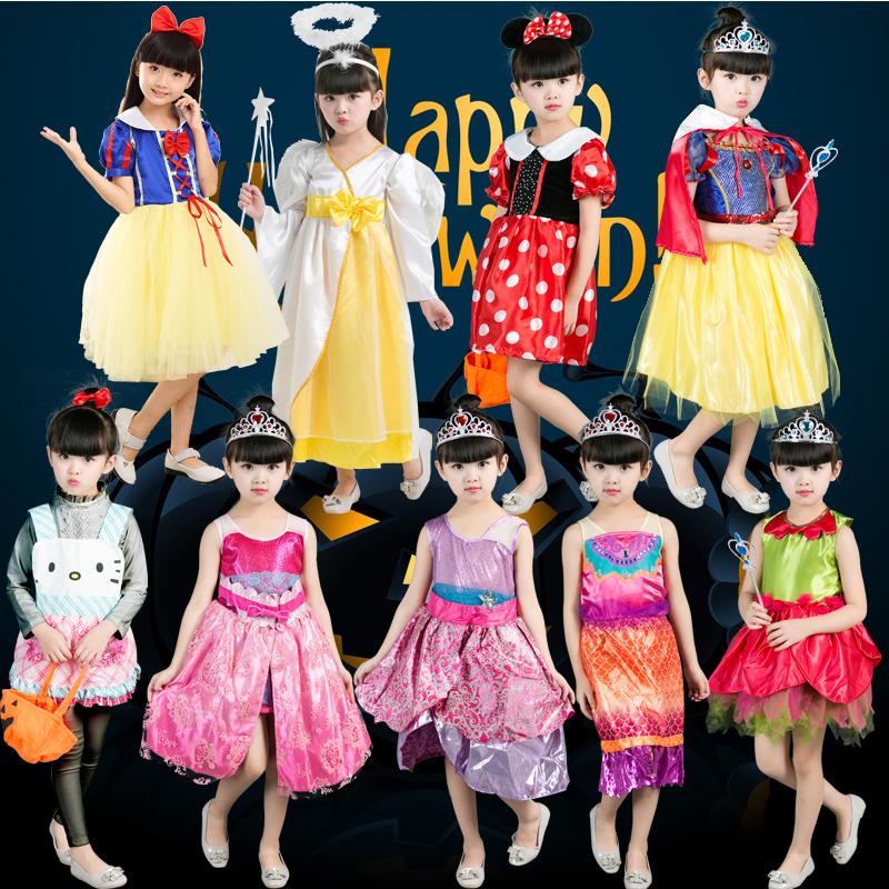 萬聖節兒童服裝女童cosplay白雪公主角色扮演公主裙化妝舞會衣服