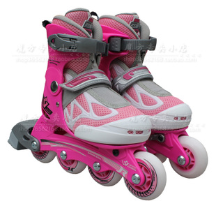 Upgraded 139 meter high Z0 m tall children skates adjustable inline skate ZO meter high powder blue and white