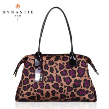 Mr Qi euramerican fashion import canvas leopard female bag Single shoulder bag Waterproof nylon bag