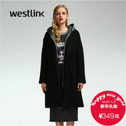 Westlink/West New 2015 winter alphabet print two piece hooded coat women's coat