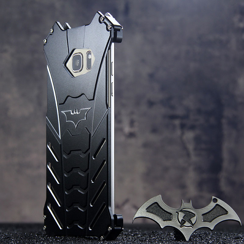 R-Just Batman Shockproof Aluminum Shell Metal Case with Custom Stent for Samsung Galaxy Note 7 N9300