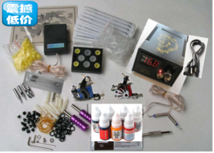 K062 LCD Power Supply Tattoo Kit Dual full range of economic value Sets tattoo kit gun ink