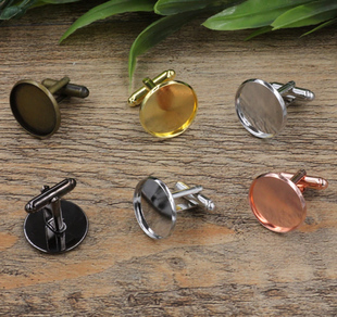 Within 10 wholesale copper plate into 12-20mm film to French cufflinks (06091) nail sleeve shirt cuff nail buckle