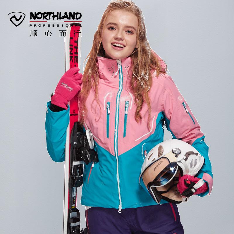 Обещание поэзия орхидея NORTHLAND на открытом воздухе эластичность катание на лыжах женская одежда водонепроницаемый теплый катание на лыжах одежда GK042806