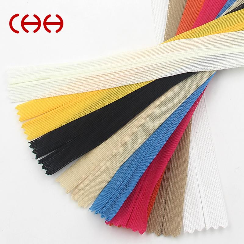 CHH拉链 3#隐形拉链 25cm针织边羽绒服口袋拉链 20色可选
