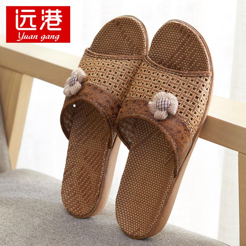 专用夏季凉拖鞋外穿防滑中老年人亚麻亚草竹子托鞋日式藤编纸草鞋