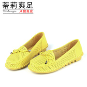 Tilly cool foot spring 2015 shallow mouth bow flat shoes woman shoes Tilly cool foot
