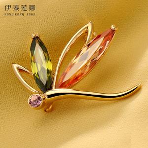 伊泰莲娜枫叶之舞胸针送礼胸花别针饰品采用施华洛世奇元素