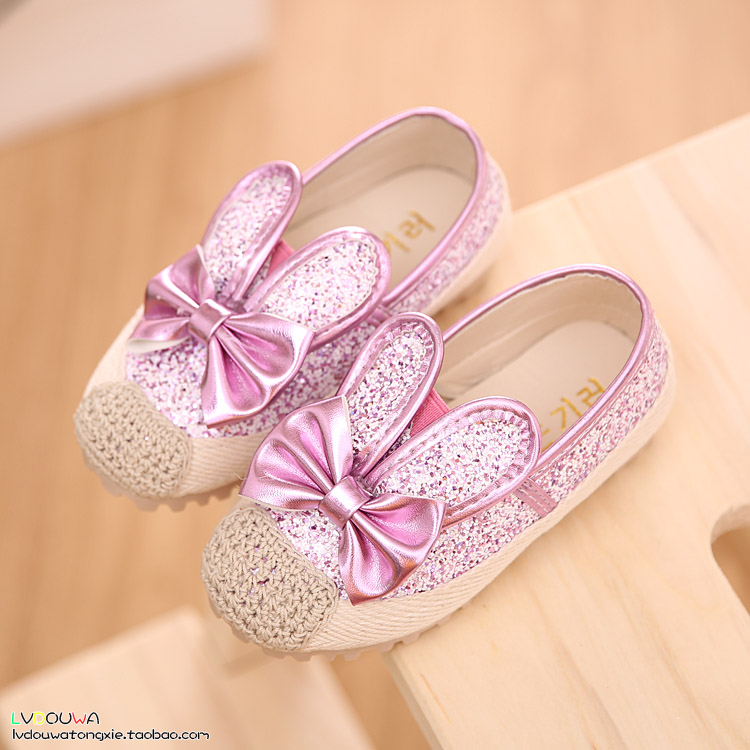 Новый корейский девочек принцесса обувь Обувь обувь осень 2015 Банни обувь мальчиков обувь Обувь baby бума