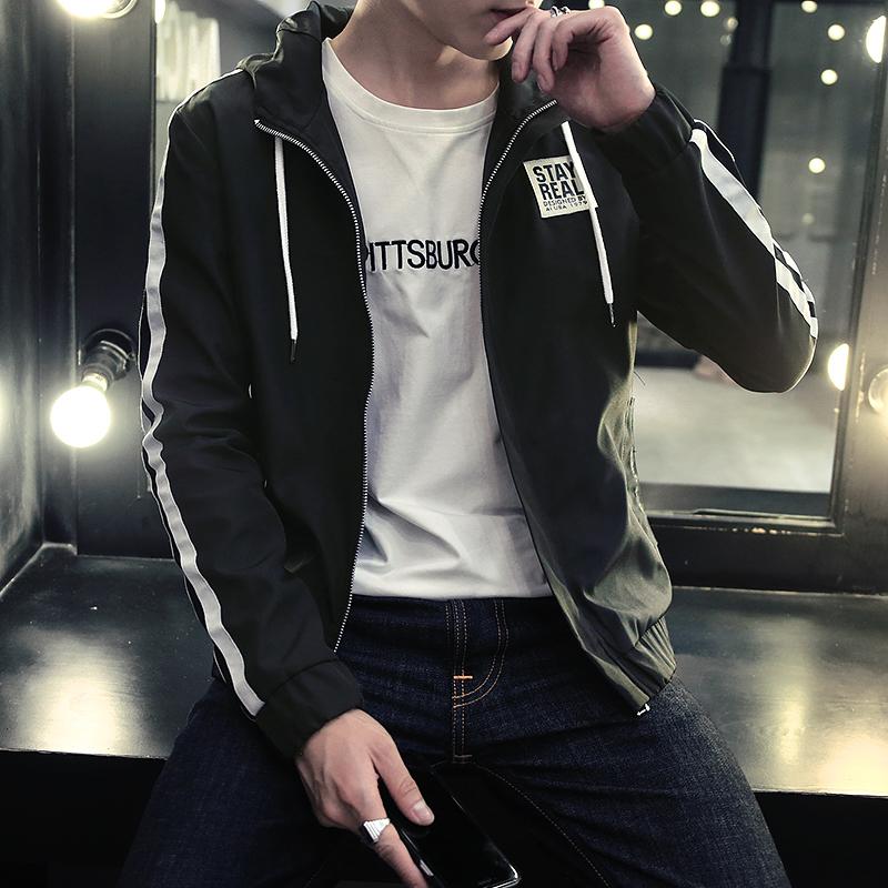 男士2016 秋 青少年 夾克學生連帽外套男裝青年潮流衣服