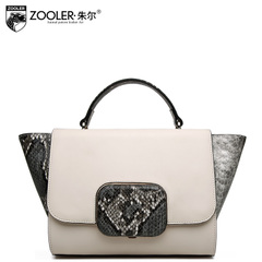 Jules European fashion for fall/winter new style ladies bag leather snakeskin handbag leisure single shoulder bag Messenger bag