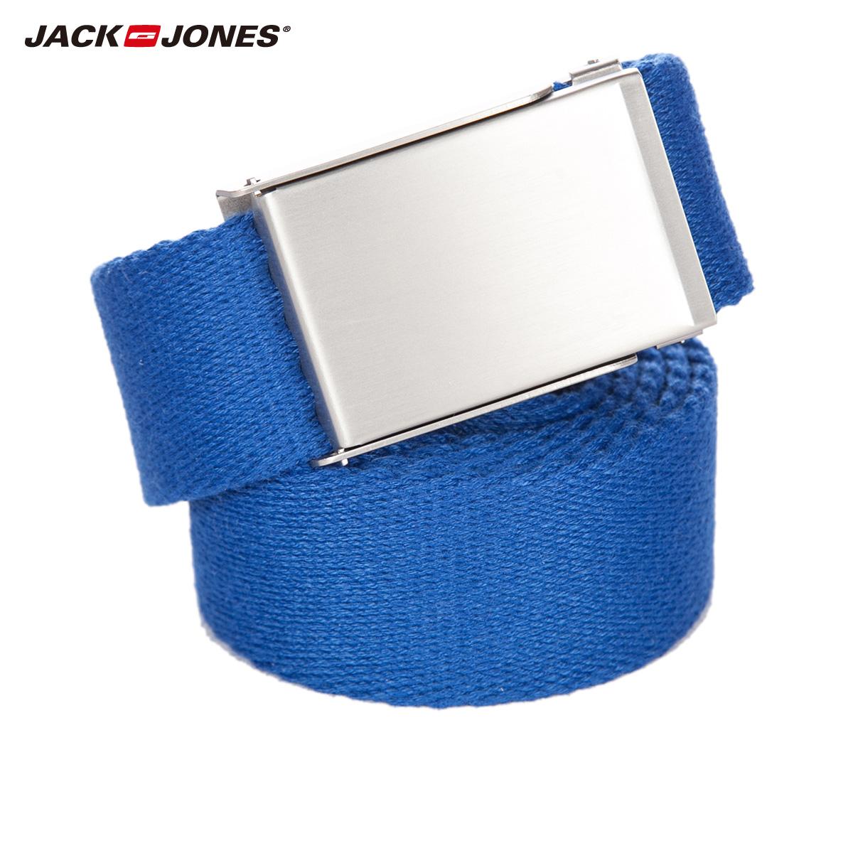 JackJones傑克瓊斯春夏簡約帆布耐磨卡扣 皮帶腰帶C^|21627700