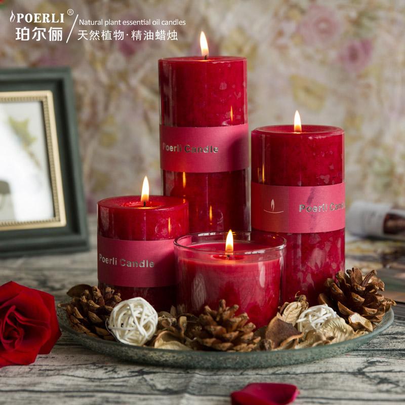 套装天然玫瑰香薰蜡烛浪漫精油香氛蜡烛大红套装婚庆蜡烛礼品熏香