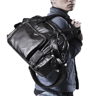 Korean version of men s business large capacity portable shoulder Messenger tide men leisure travel business trip
