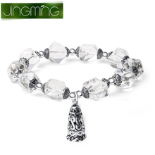 Crystal wong crystal White crystal bracelet Happy to return LanLingHua hand string women act the role ofing is tasted