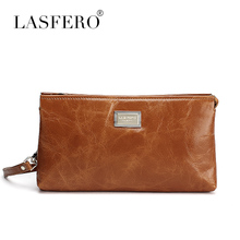 Ms LASFERO leather wallet oil wax head layer cowhide hand bag retro high-capacity long fashion handbags