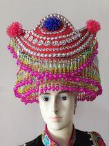 彩云南民族服装 精品 苗族 傈僳族 水族 羌族 彝族 三层帽子