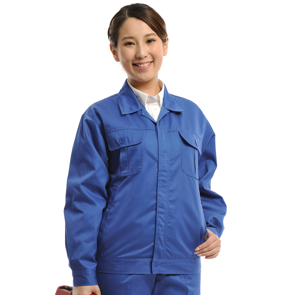 An Meiwei Zhonglan Shaka spring and autumn long sleeve work clothes mens work clothes electric welding auto repair engineering clothes labor protection uniform top