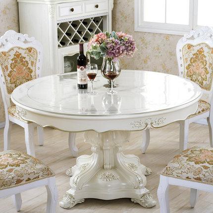 圆桌桌布防水防油防烫免洗桌垫软质玻璃圆形餐桌垫pvc塑料水晶板