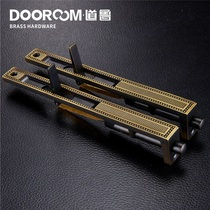 DAO Lu Quan copper Double door latch mother Door Dark plug Tiandi plug 8 inch solid wood door bolt dustproof