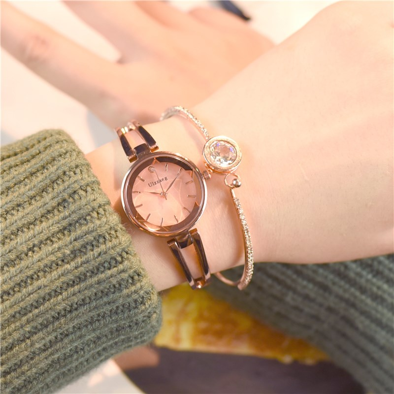 Korean fashion trend simple girl waterproof watch female student small dial bracelet bracelet watch woman