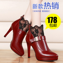 Dong fox fall 2015 new documentary shoes high heel shoes fashion in Europe and the lace sexy pointed high-heeled shoes