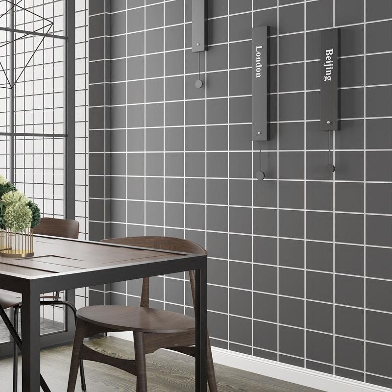 Самоклеящийся обои нордический чёрно-белая клетка спальня комната с несколькими кроватями декоративный гостиная фон наклейки для стен стена бумага водонепроницаемый серый наклейки