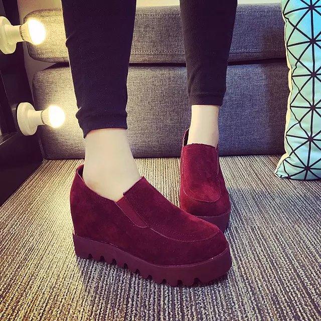 Корейская версия платформы обувь летом и осенью в Лок Фу обувь педаль ноги высокая Платформа Обувь спортивная обувь ленивый человек