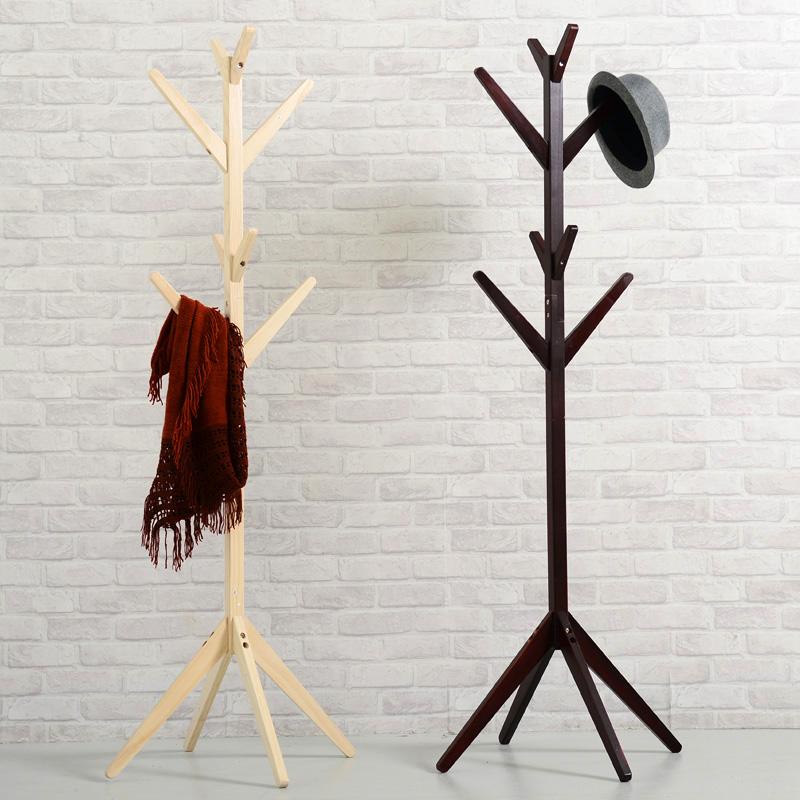蔓斯菲爾衣帽架實木落地掛衣架臥室衣服架子歐式掛包架簡易帽子架