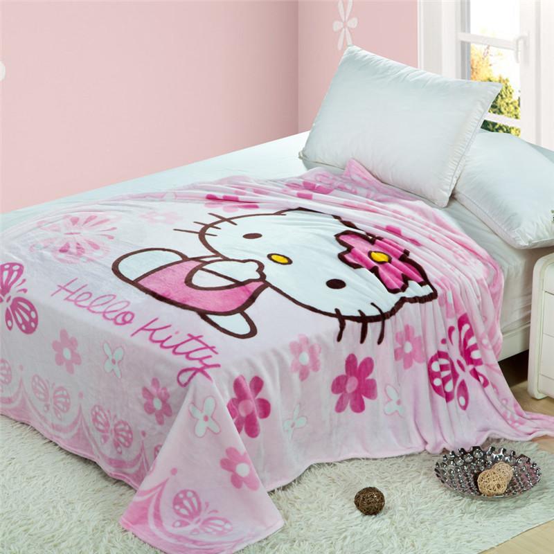 Новый кондиционер был листов лето черный ватки одеяло Hello Kitty Cat порошок, мультфильм Губка Боб Квадратные Штаны