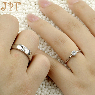 JPF romantic couple rings wedding band wedding ring 925 silver couple rings Valentines Day gifts to send his girlfriend