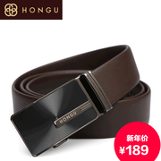 Honggu red Valley leisure business counters authentic 2015 new men's automatic buckle leather belt 3066