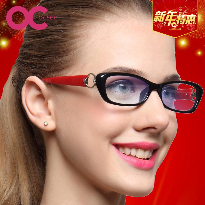 OCSEE老花鏡女 超輕優雅防輻射防藍光老光眼鏡高檔老花鏡
