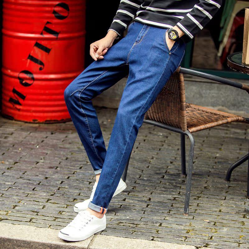 青少年小腳複古潮流牛仔褲