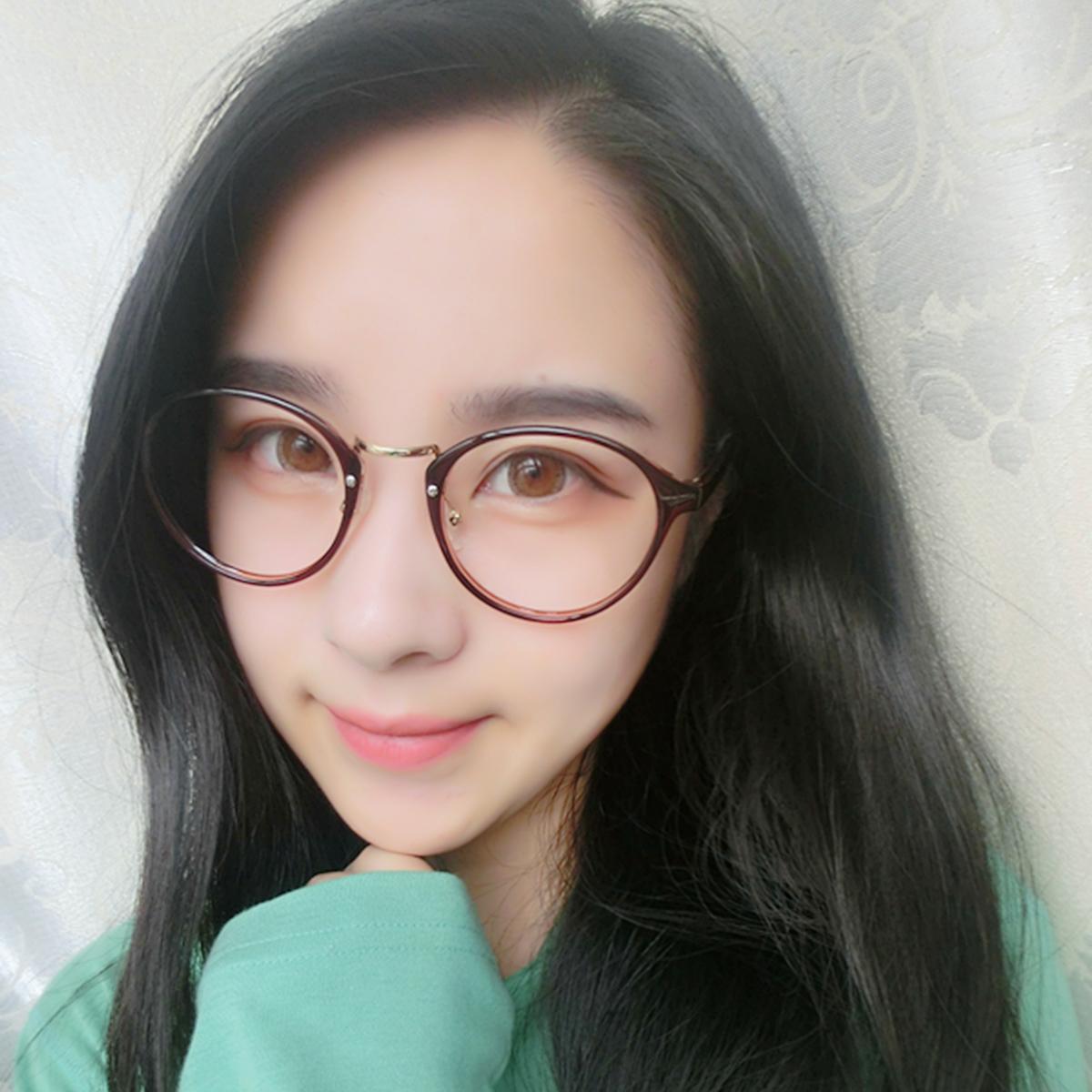 複古大臉眼鏡框男潮可配近視 超輕眼鏡架女文藝TR90光學配鏡
