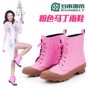 RAINBELT rain-belt 2015 Korean version of Martin tube boots fashion women boots, lace boots water shoes