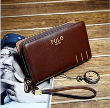The new 2015 men handbags leather large capacity caught hand bag soft leather wallets zipper long