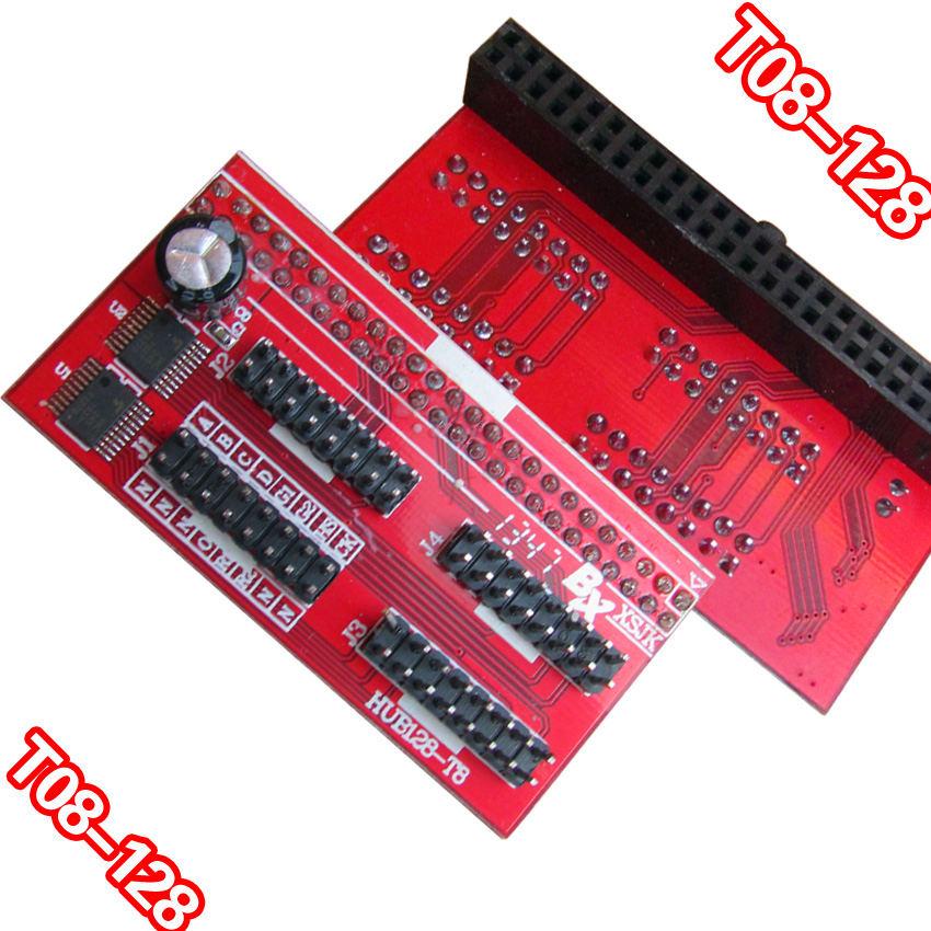 通用LED控制卡转接板 HUB板 08-128 4口T08接口